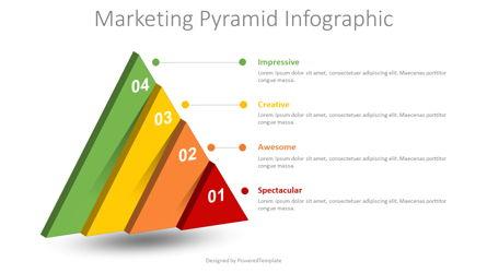 Marketing Pyramid Infographic Presentation Template, Master Slide