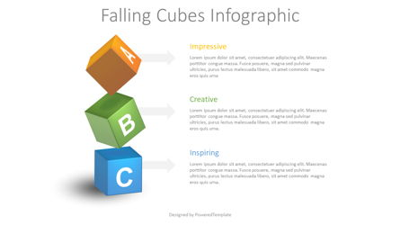 Falling Cubes Infographic Presentation Template, Master Slide