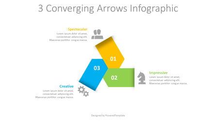 3 Converging Arrows Infographic Presentation Template, Master Slide