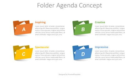 Folder Agenda Concept Presentation Template, Master Slide
