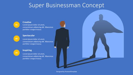 Super Businessman Concept Presentation Template, Master Slide