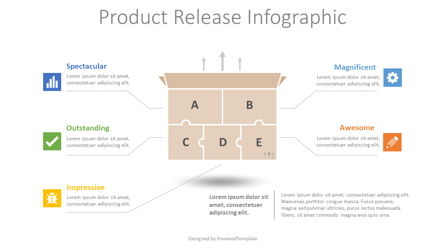 Product Release Infographic Presentation Template, Master Slide
