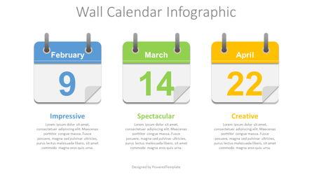 Wall Calendar Concept Presentation Template, Master Slide