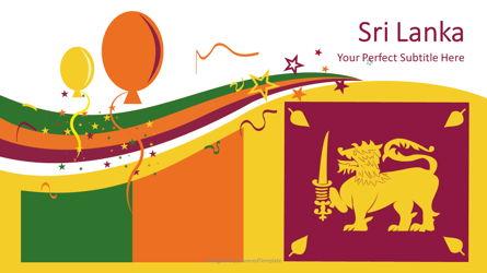 Sri Lanka Festive Flag Presentation Template, Master Slide
