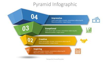 4 Layer Pyramid Infographic Presentation Template, Master Slide