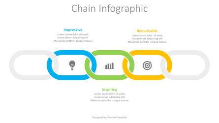 3 Part Chain Infographic Presentation Template, Master Slide