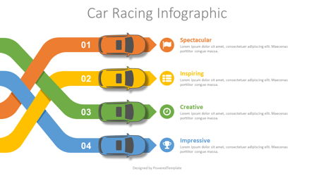 Car Racing Infographic Presentation Template, Master Slide
