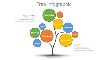Creative Tree Infographic Presentation Template, Master Slide