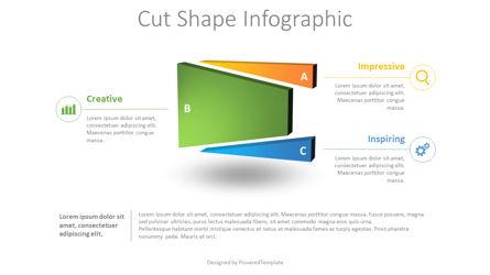 Divided Shape Infographic Presentation Template, Master Slide