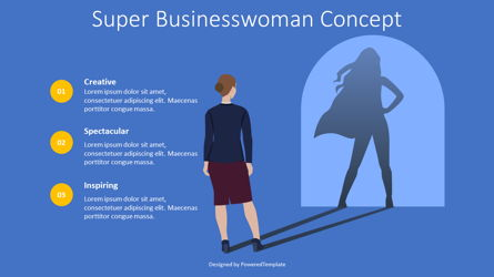 Super Businesswoman Concept Presentation Template, Master Slide