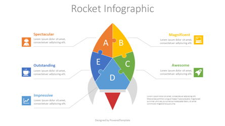 Puzzle Rocket Infographic Presentation Template, Master Slide