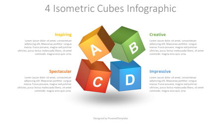 Colored Cubes Infographic Presentation Template, Master Slide