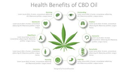 Health Benefits CBD Oil Infographic Presentation Template, Master Slide