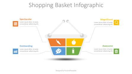 Shopping Basket Infographic Presentation Template, Master Slide