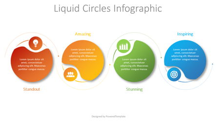 Liquid Circles Infographic Presentation Template, Master Slide