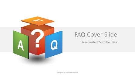 FAQ Presentation Cover Slides Presentation Template, Master Slide