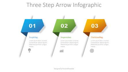 3 Step Arrow Infographic Presentation Template, Master Slide