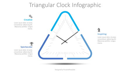 Triangular Clock Infographic Presentation Template, Master Slide