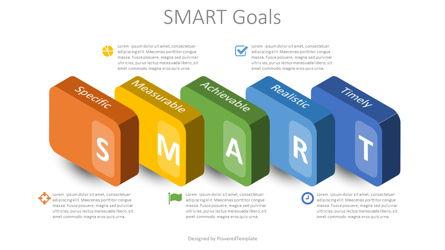 SMART Goals Setting Infographic Presentation Template, Master Slide