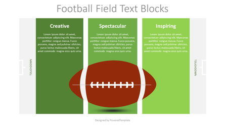 Football Field Text Boxes Presentation Template, Master Slide