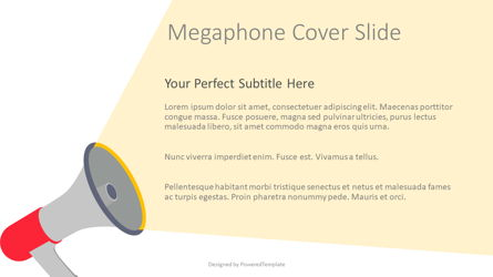 Megaphone Cover Slide Presentation Template, Master Slide