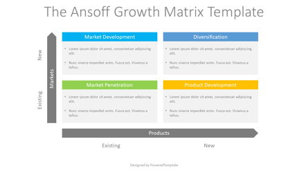 The Ansoff Growth Matrix Presentation Template, Master Slide