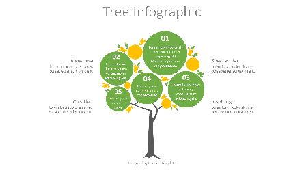 Round Crown Tree Diagram Presentation Template, Master Slide