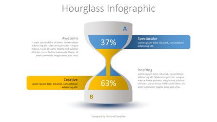 Hourglass Infographic Presentation Template, Master Slide