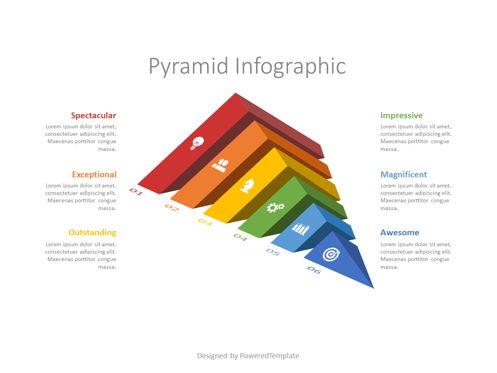 Sliced Pyramid Infographic Presentation Template, Master Slide