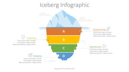 Divided Iceberg Infographic Presentation Template, Master Slide