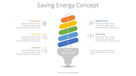 Saving Energy Concept Infographic Presentation Template, Master Slide