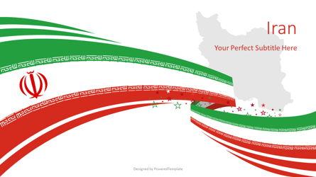 Festive Iran State Flag Presentation Template, Master Slide