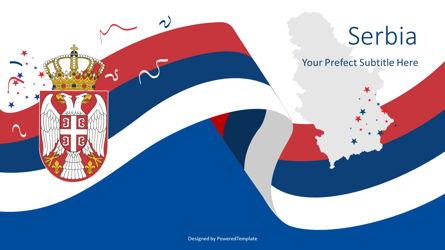 Festive Serbian State Flag Presentation Template, Master Slide