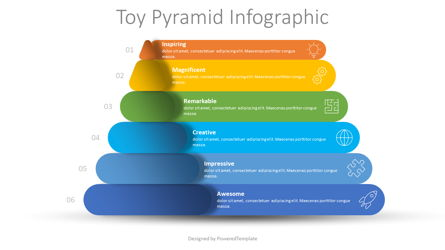 Toy Pyramid Infographic Presentation Template, Master Slide