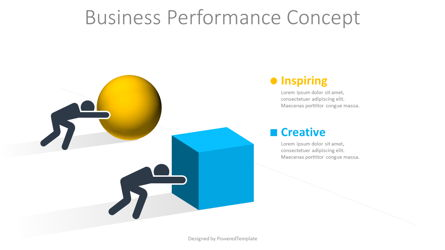 Business Performance Concept Presentation Template, Master Slide
