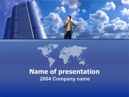 Global Planning Presentation Template, Master Slide