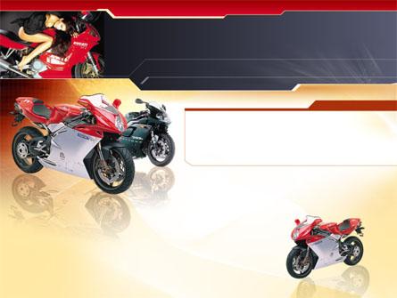 Motorcycle Presentation Template, Master Slide