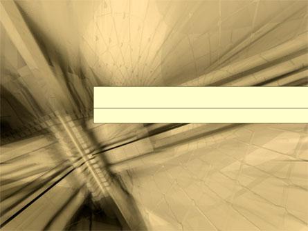 3D Sepia Business Presentation Template, Master Slide