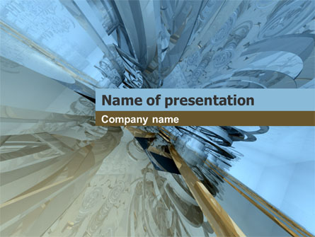 3D Blue & Gray Presentation Template, Master Slide