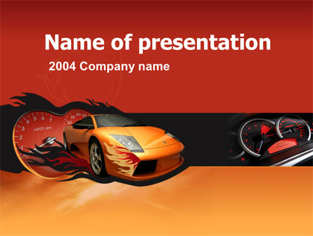 Motor Race Presentation Template, Master Slide