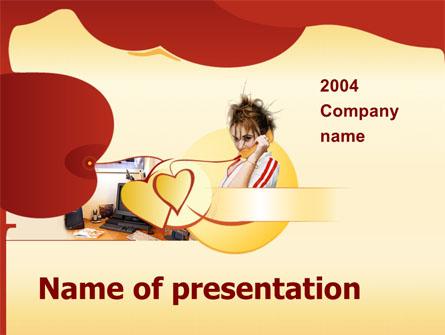 Phone Conversation Presentation Template, Master Slide