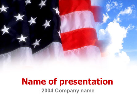 American Flag Presentation Template, Master Slide