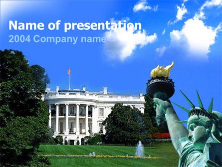 White House Free Presentation Template, Master Slide