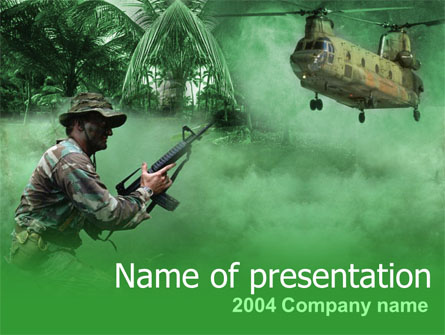 Military Campaign Presentation Template, Master Slide