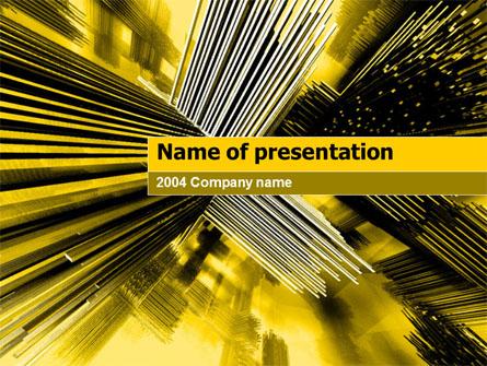 3D Sepia Presentation Template, Master Slide