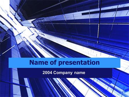 Blue Skyscrapers Free Presentation Template, Master Slide