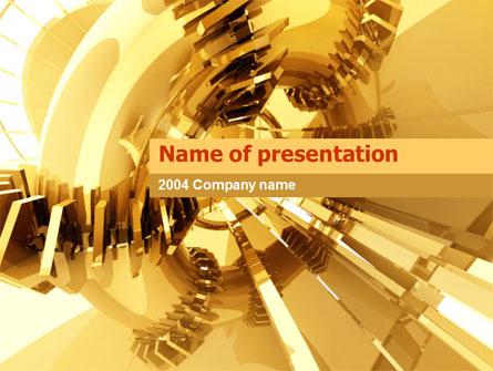 3D Yellow Presentation Template, Master Slide