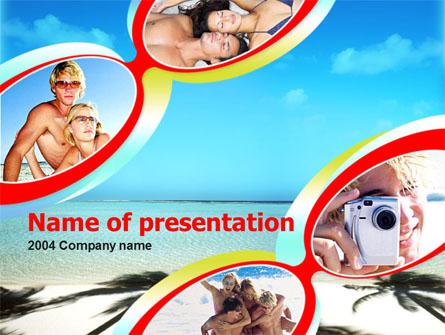 Beach Free Presentation Template, Master Slide