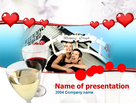 Wedding Chapel Presentation Template, Master Slide