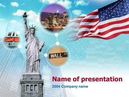 Statue of Liberty Presentation Template, Master Slide
